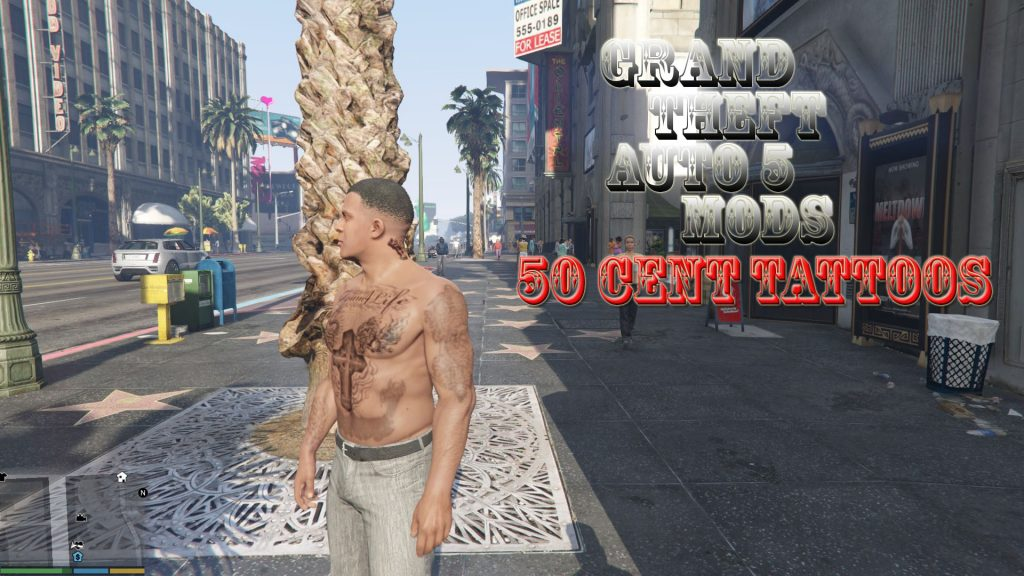 All 50Cent Tattoos Franklin Mod For GTA 5