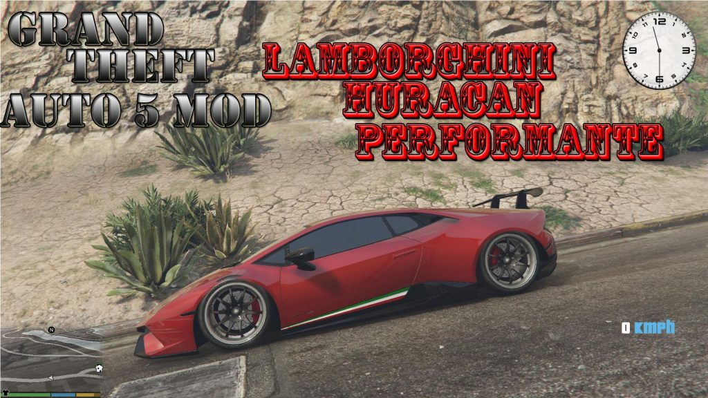 2018 Lamborghini Huracan Mod For GTA5
