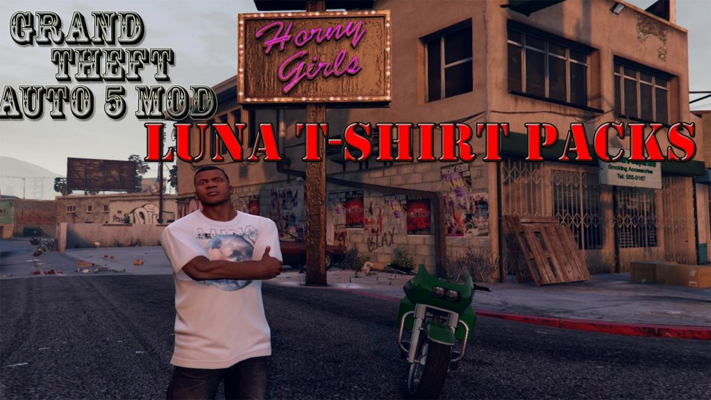 Luna T-Shirt Pack Mod For GTA5
