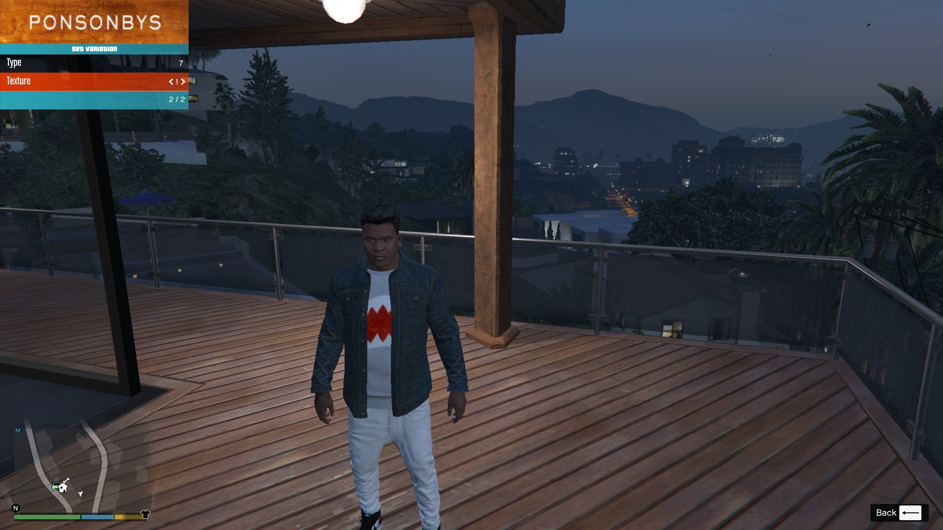 Denim and Sweater for Franklin GTA5 Mods (2)