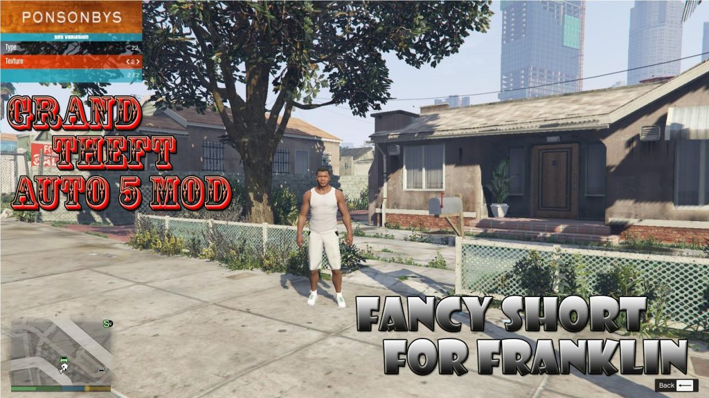 Fancy Short For Franklin Mod For GTA 5
