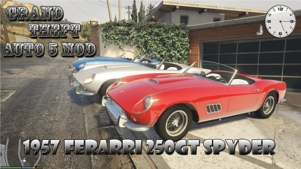 1957 Ferrari 250 GT California Spyder Mod For GTA 5