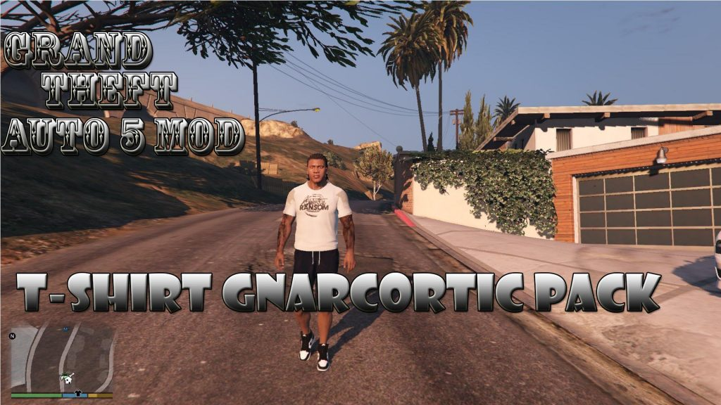 T-Shirt Pack Gnarcotic On Franklin Mod For GTA 5