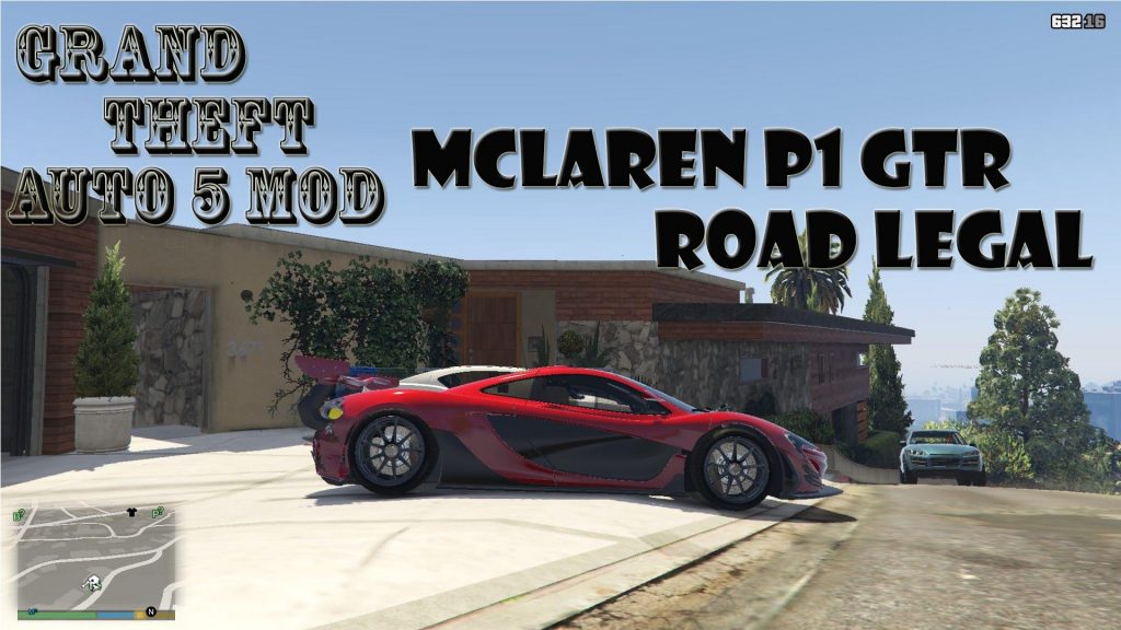 McLaren P1 GTR Road Legal Mod For GTA 5