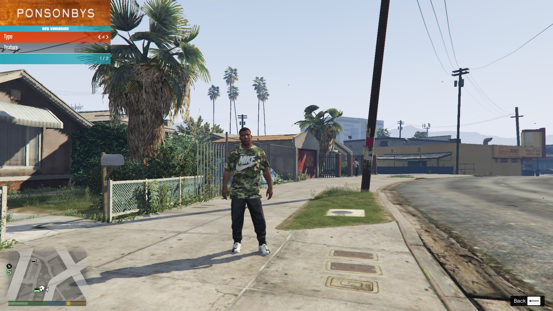Nike Camo T-Shirt For Franklin GTA5 Mods (5)