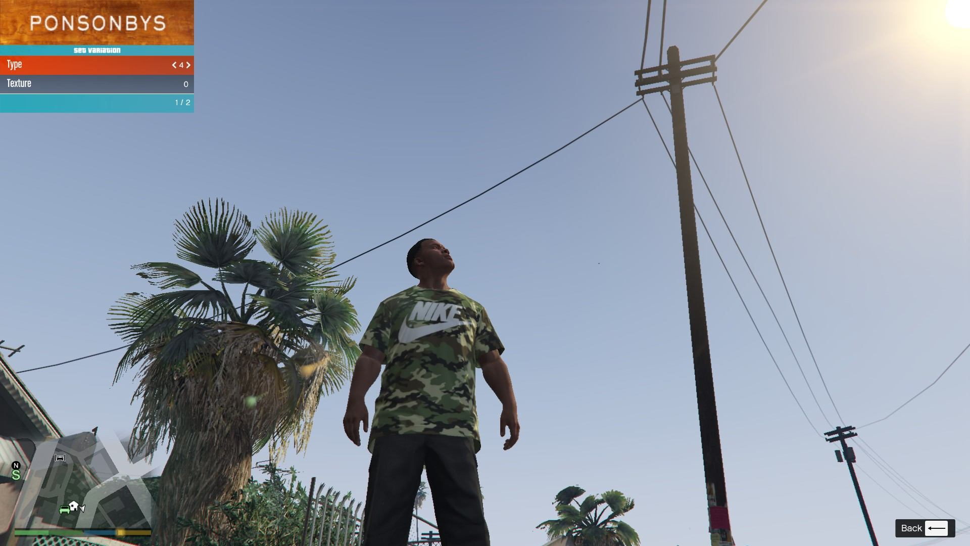 Nike Camo T-Shirt For Franklin GTA5 Mods (7)