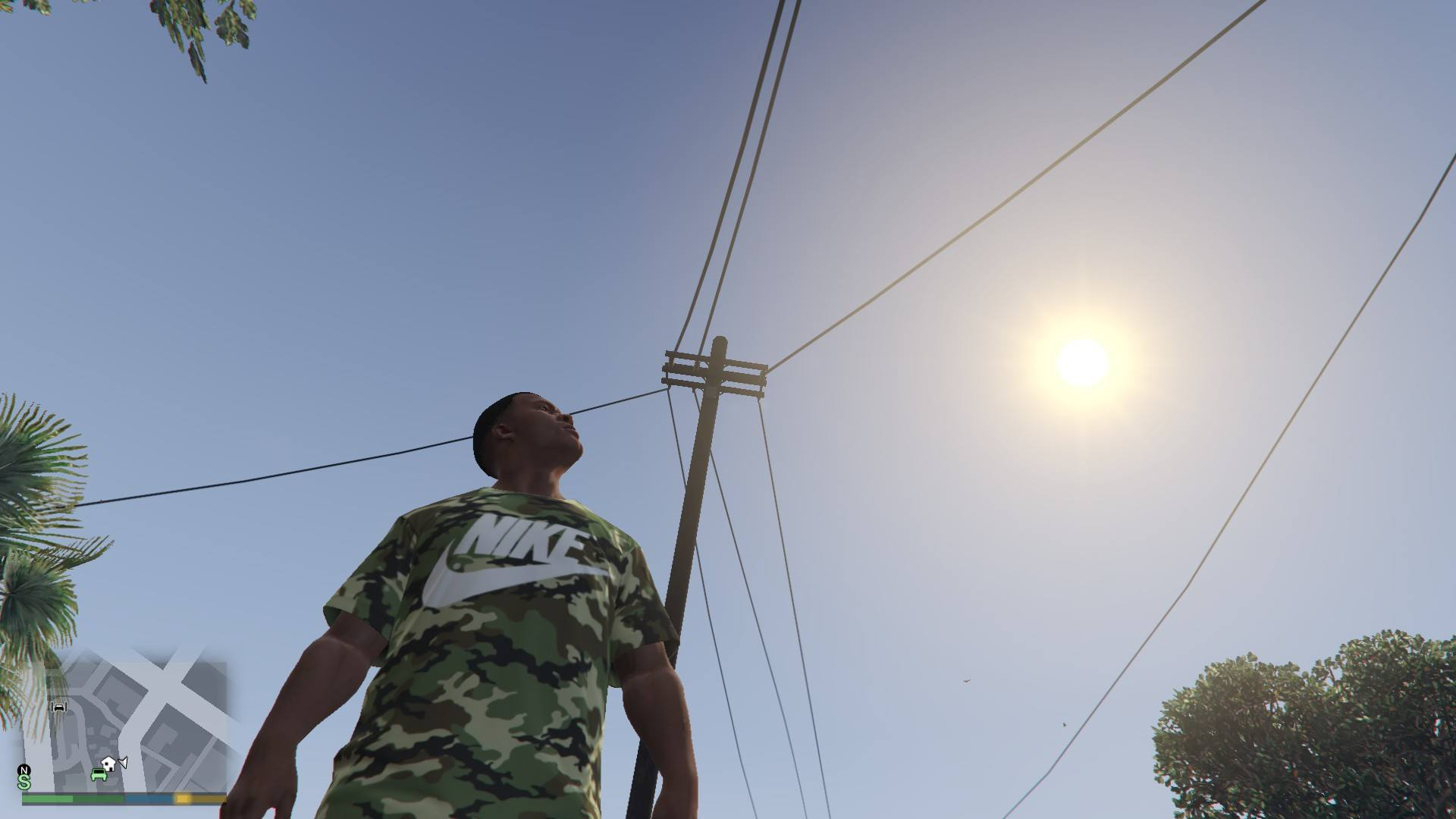 Nike Camo T-Shirt For Franklin GTA5 Mods (8)