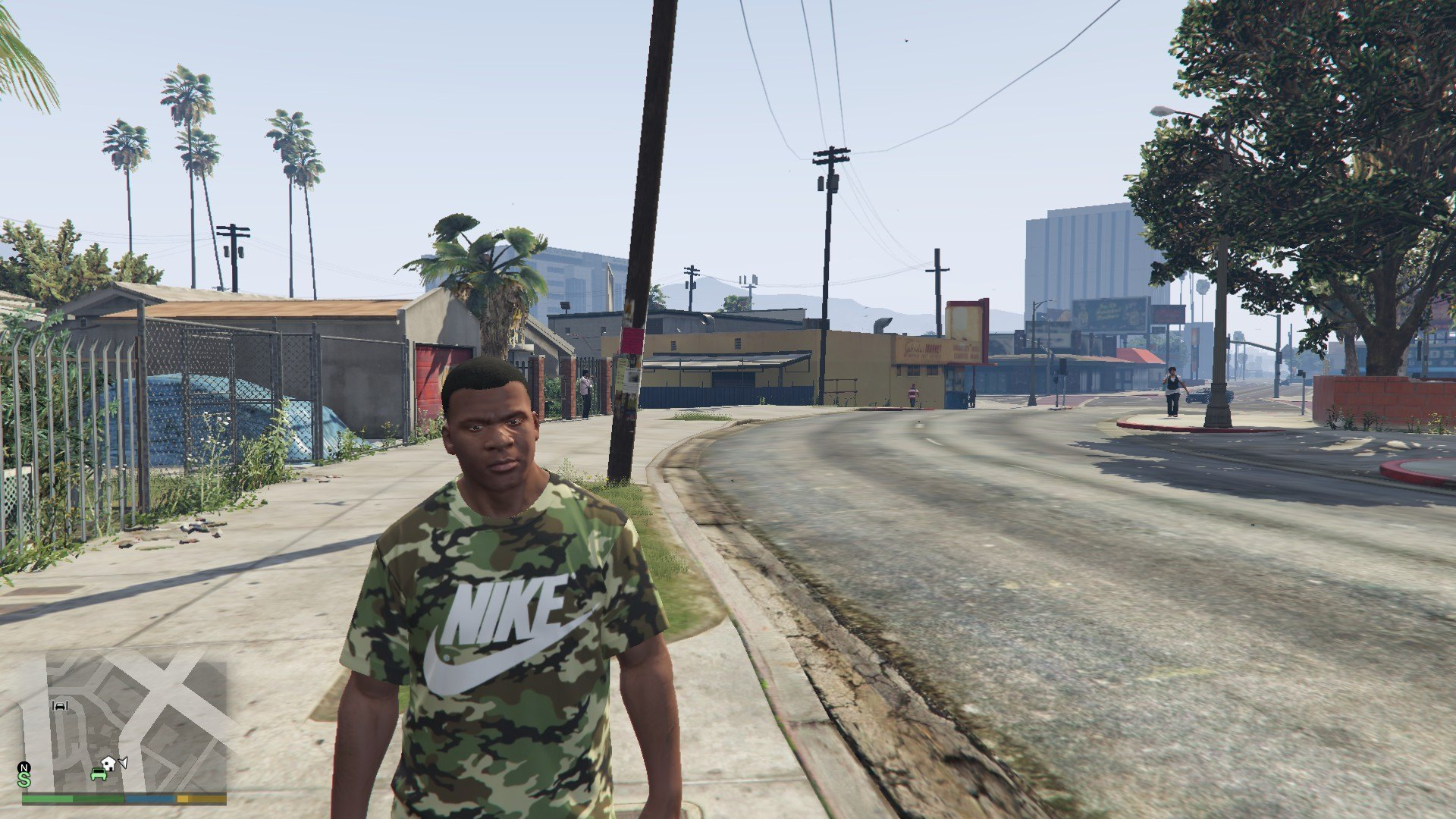 Nike Camo T-Shirt For Franklin GTA5 Mods (9)