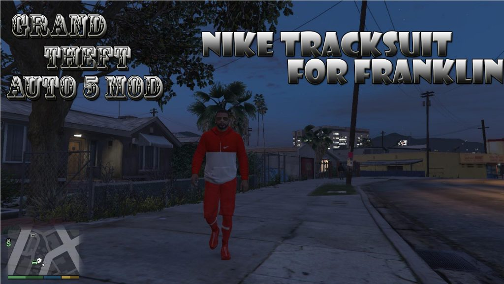 Nike Tracksuit On Franklin Mod For GTA 5