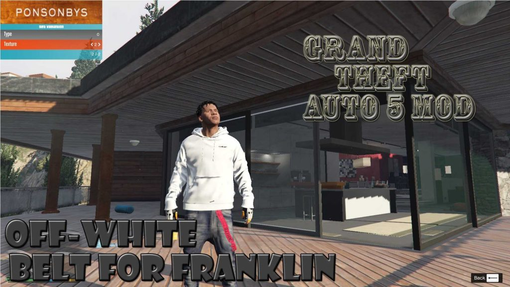 Off-White Belt On Franklin Mod For GTA 5