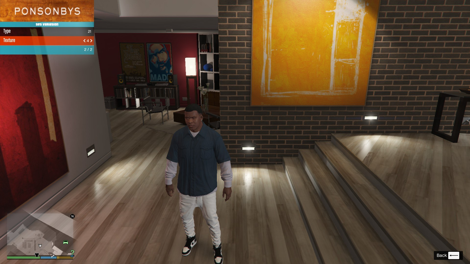 Sagged Jeans For Franklin GTA5 Mods (7)