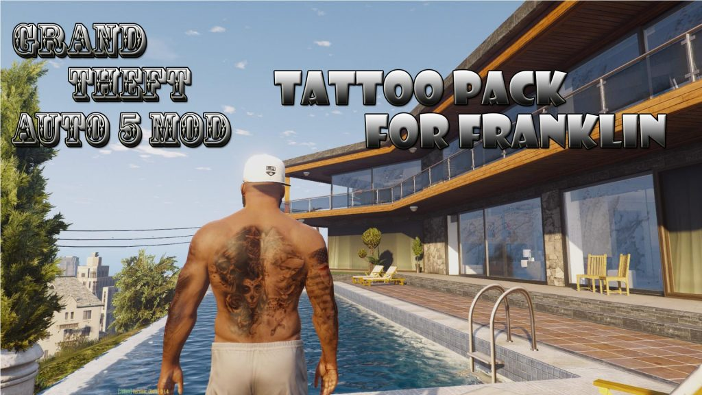 Tattoos Pack On Franklin Mod For GTA 5