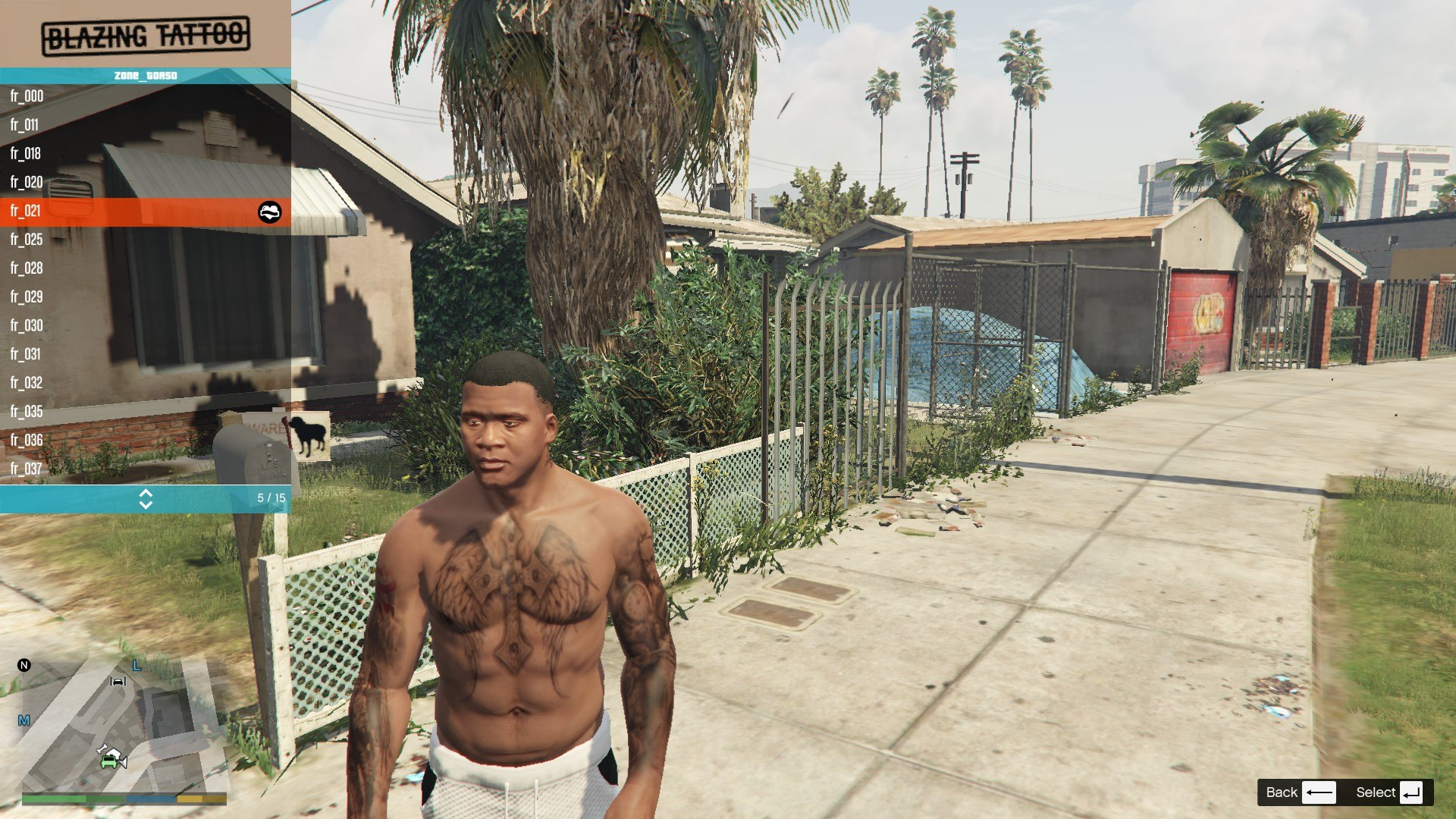 Tattoos Pack For Franklin GTA5 Mods (10)