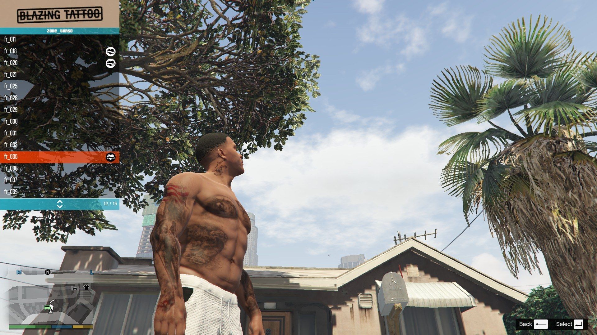 Tattoos Pack For Franklin GTA5 Mods (11)