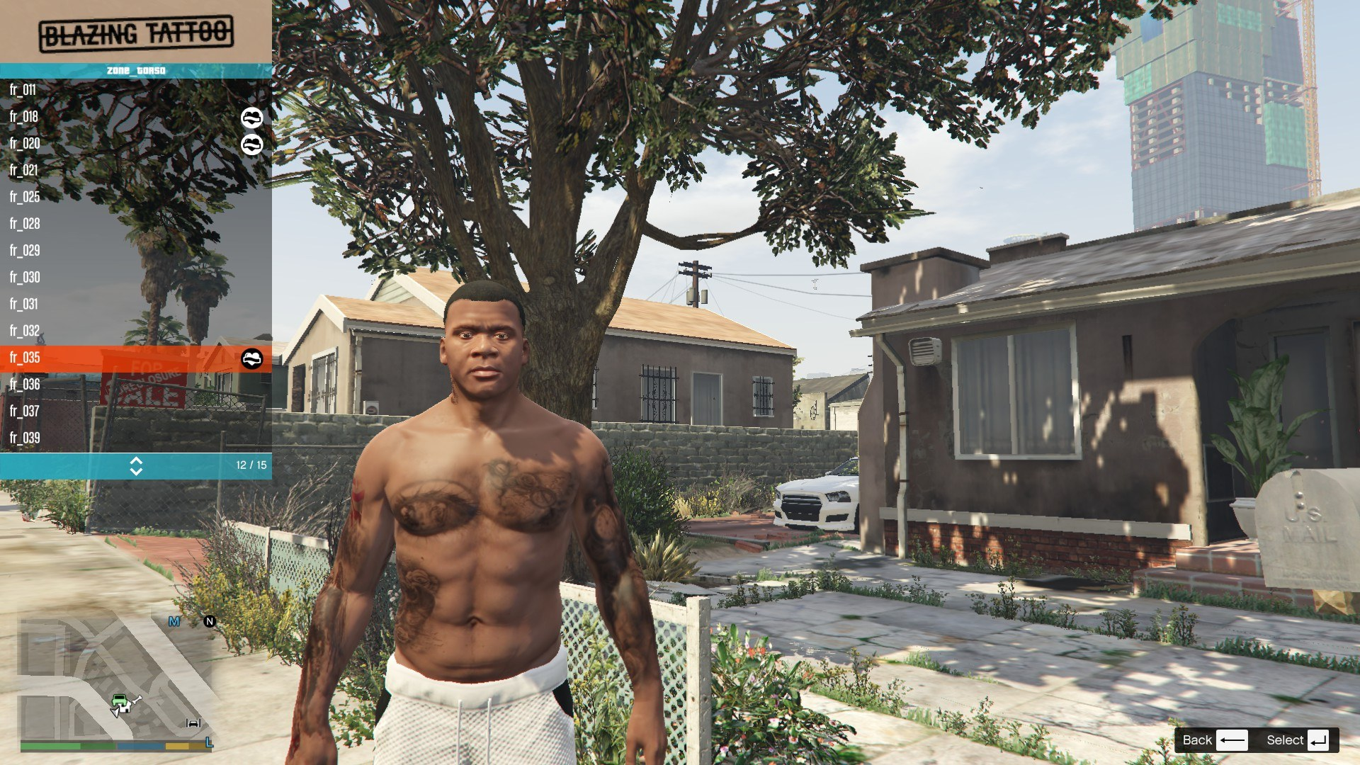 Tattoos Pack For Franklin GTA5 Mods (12)