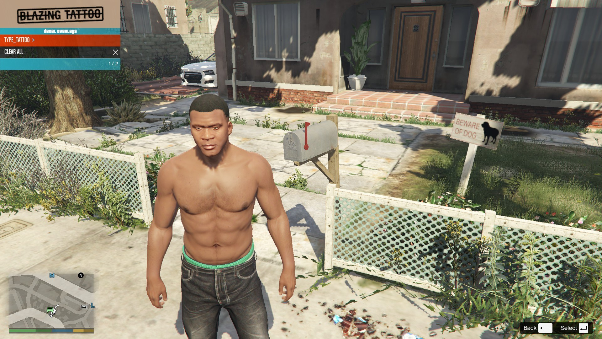 Tattoos Pack For Franklin GTA5 Mods (5)
