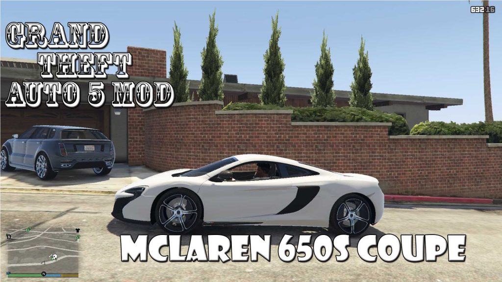 McLaren 650S Coupe Mod For GTA 5