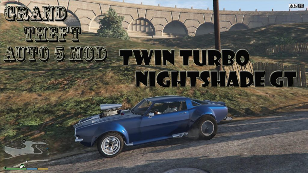 Twin Turbo Nightshade Drag Mod For GTA 5