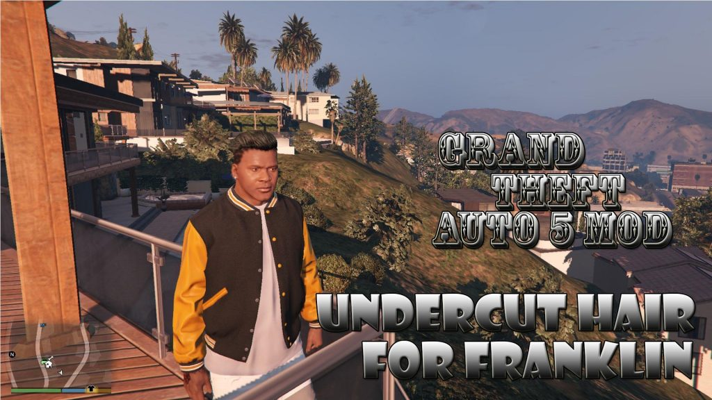 Undercut Hair On Franklin Mod For GTA 5