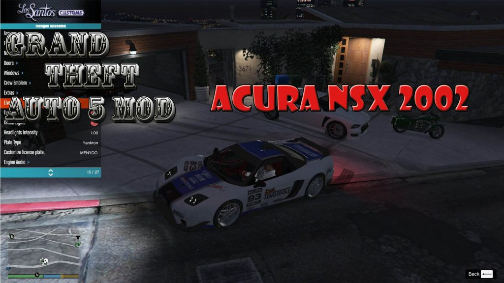 2002 Acura NSX Mod For GTA5