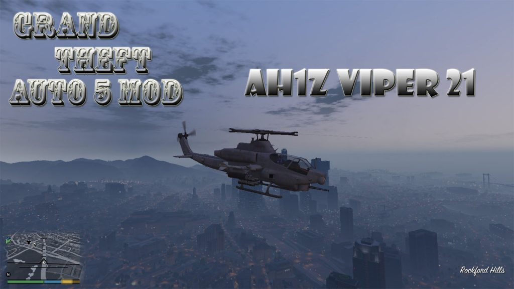 AH1Z Viper 21 Helicopter Mod For GTA5