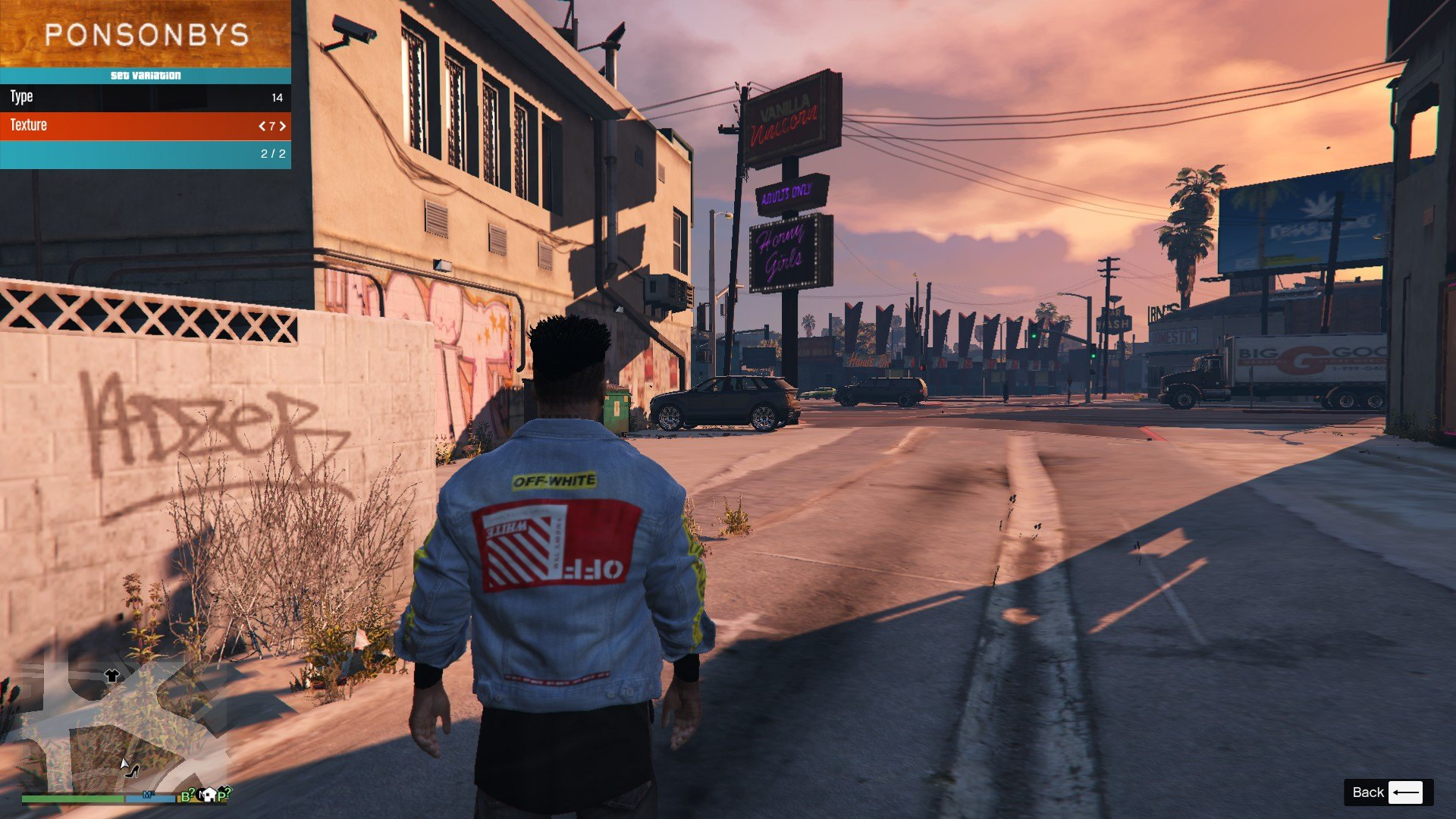 Denim Jacket Off White GTA5 Mods (2)
