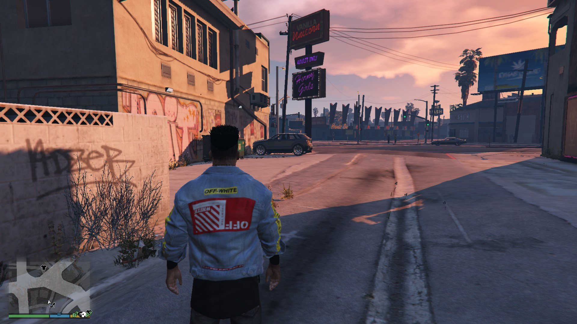 Denim Jacket Off White GTA5 Mods (3)