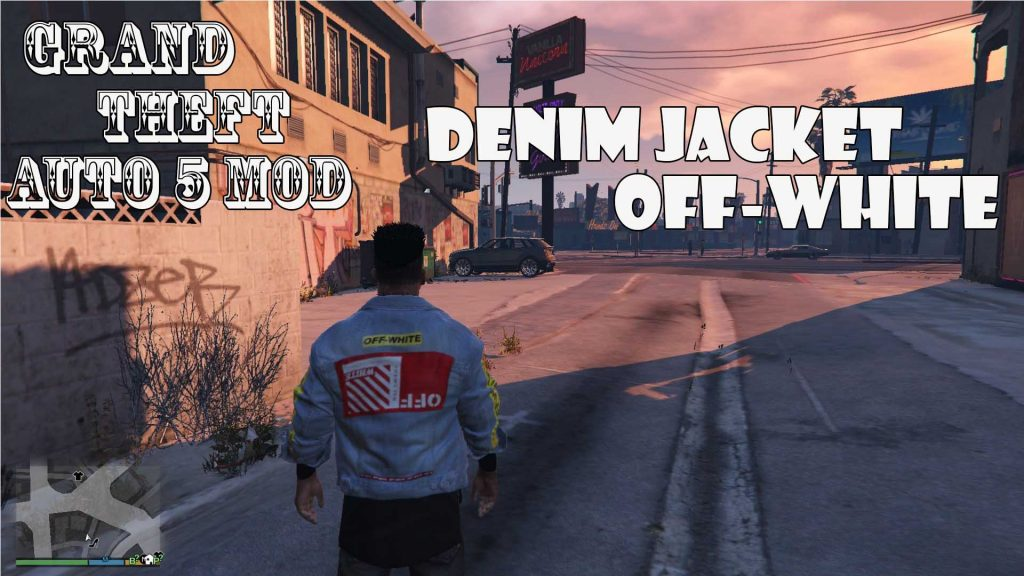 Denim Jacket Off-White For Franklin Mod For GTA5