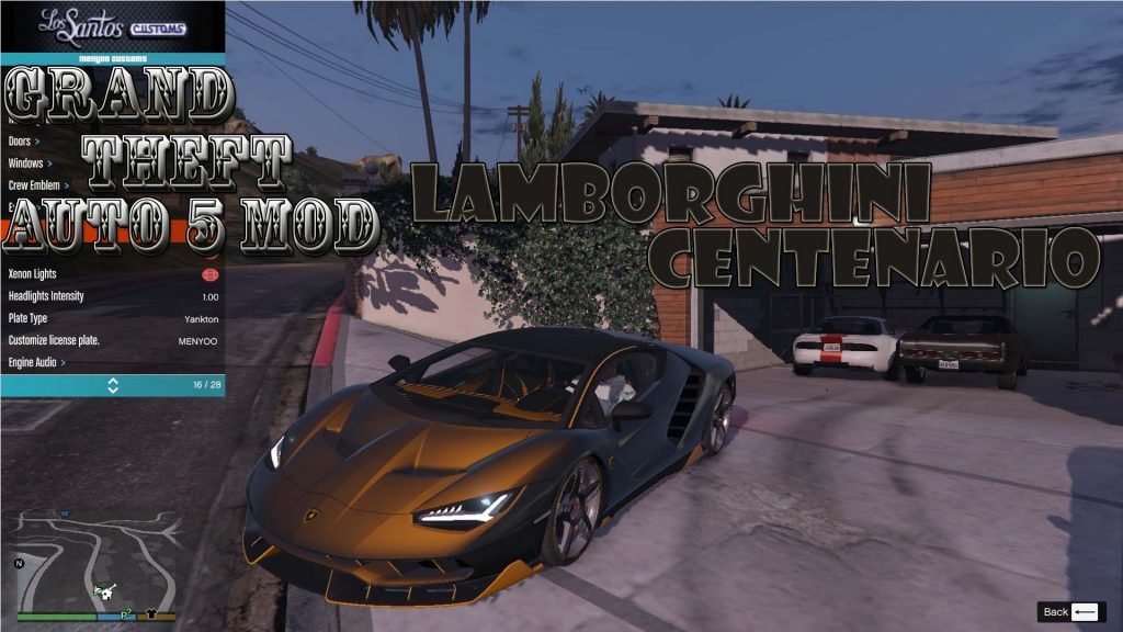 Lamborghini Centenario Mod For GTA 5