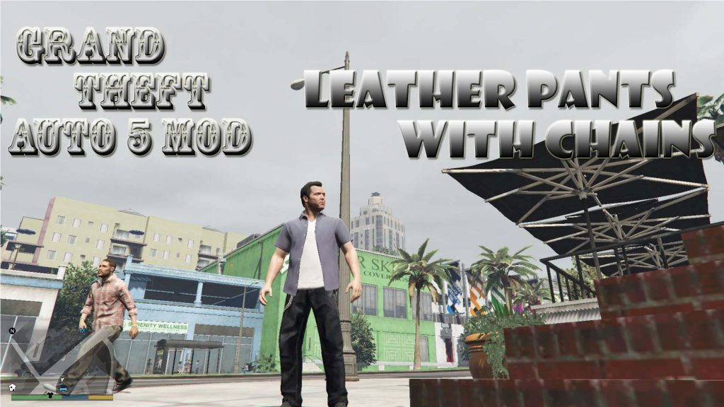 Leather Pants With Chains Michael Mod For GTA5