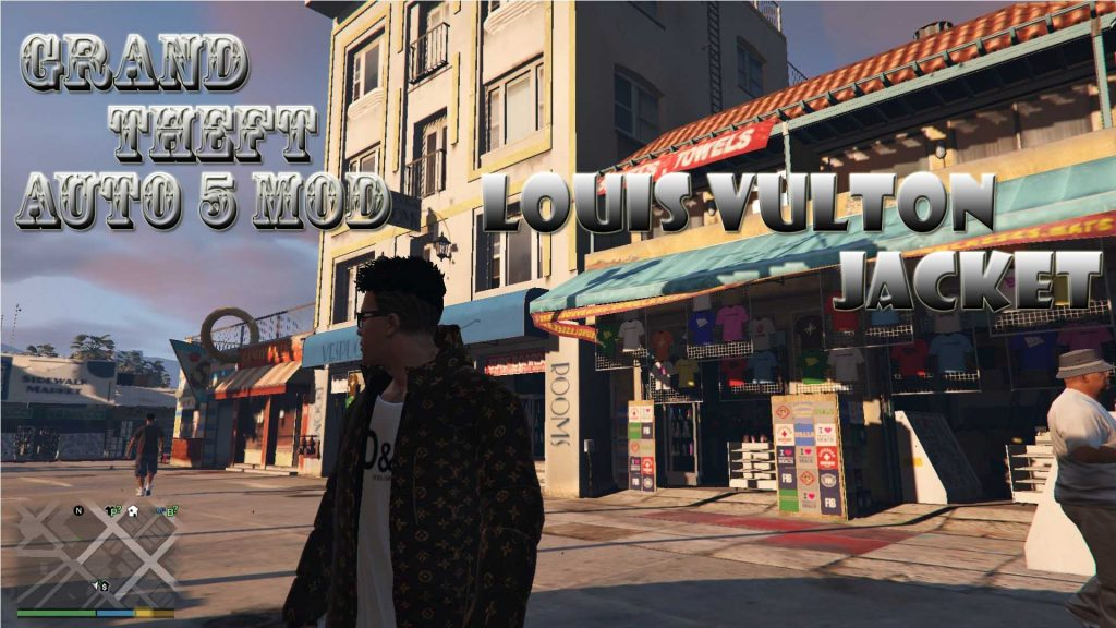 Louis Vulton Jacket Franklin Mod For GTA5