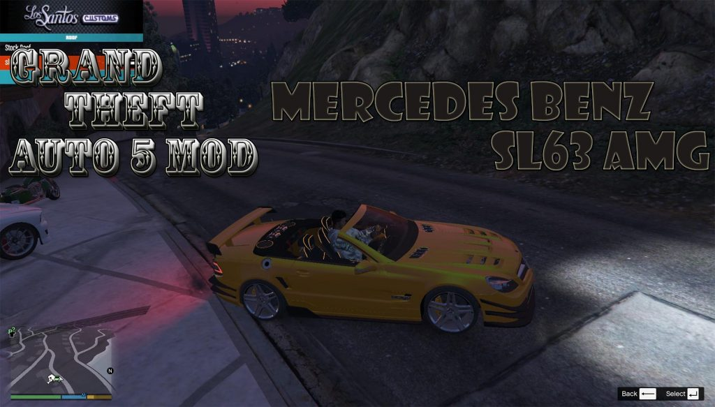 Mercedes BenZ SL63 AMG Mod For GTA 5