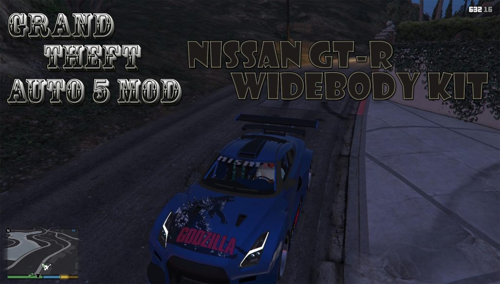 Nissan GT-R Widebodykit Mod For GTA 5