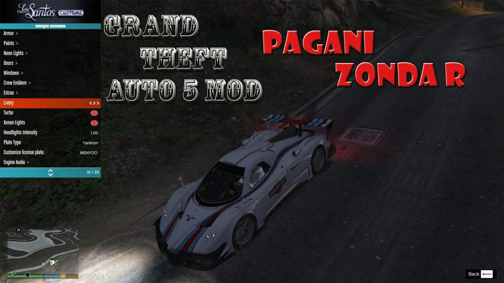 Pagani Zonda-R Mod For GTA5
