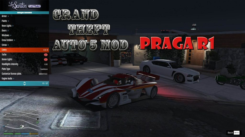 Praga R1 Mod For GTA5