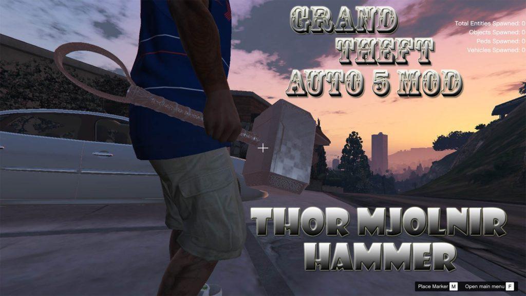 Thor Mjolnir Hammer Final Mod For GTA5