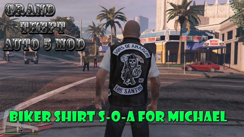 Biker Gille Sons Of Anarchy For Michael Mod For GTA5