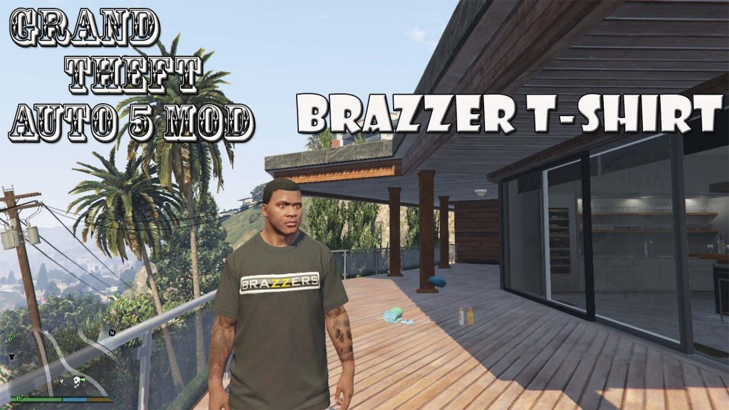 Brazzers T-Shirt For Franklin Mod For GTA5