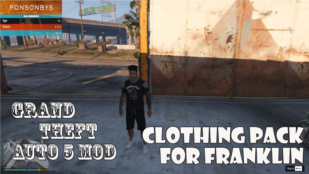 Clothing Pack For Franklin Mod For GTA5