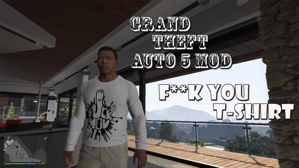 Fuck You T-Shirt For Franklin Mod For GTA5