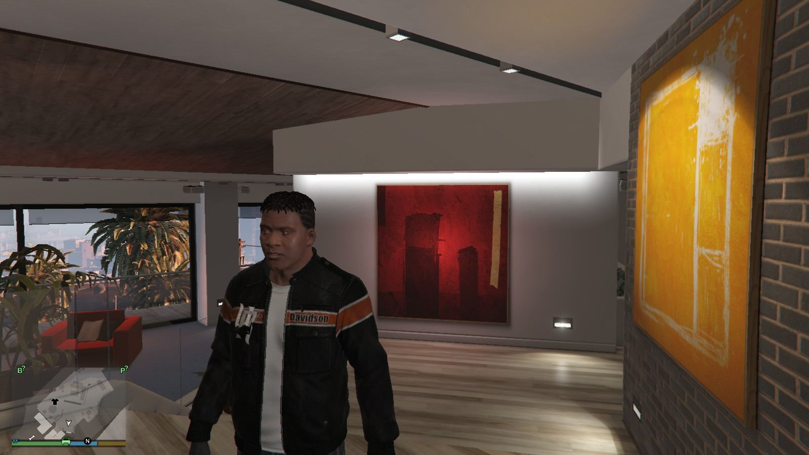 Harley Davidson Motocycle Leather Jacket GTA5 Mods (1)