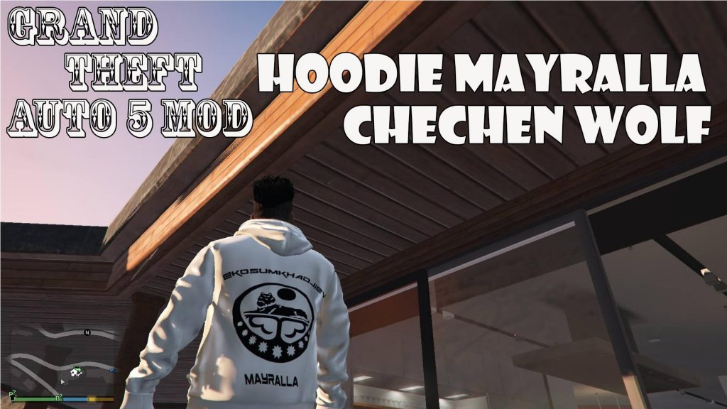 Hoodie Mayralla Chechen Wolf For Franklin Mod For GTA5