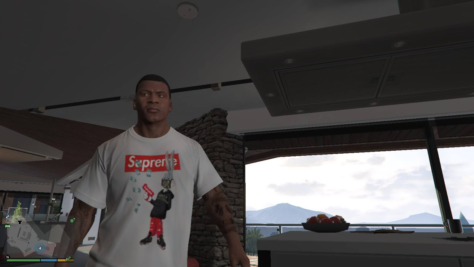 Supreme x Gucci T-Shirt GTA5 Mods (3)