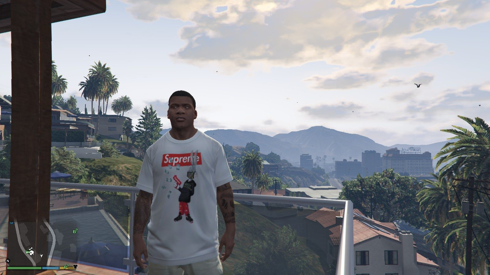 Supreme x Gucci T-Shirt GTA5 Mods (5)
