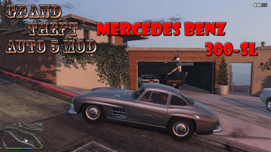 Mercedes BenZ 300SL Mod For GTA5