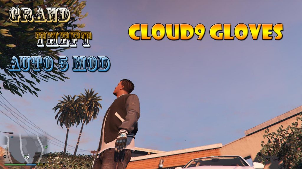 Cloud9 Gloves For Franklin Mod For GTA5