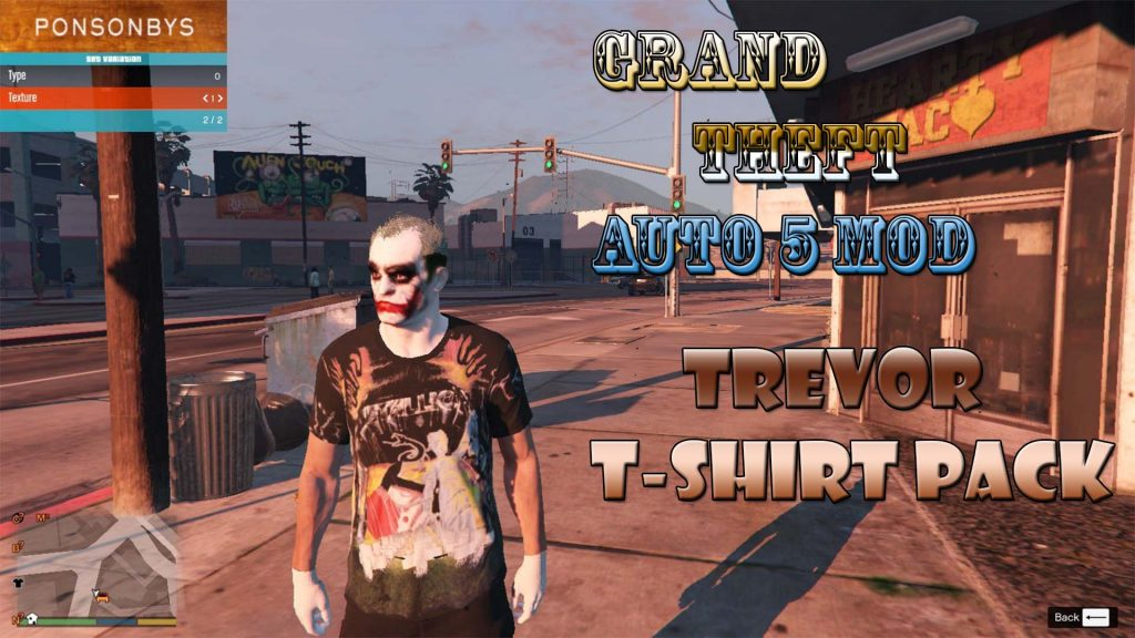 Trevor T-Shirt Packs Mod For GTA5