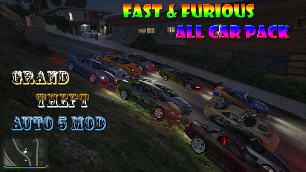 Fast And Furious Car Pack Mod For GTA5