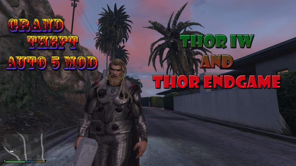 Thor Infinity War and Thor Endgame Mod For GTA5