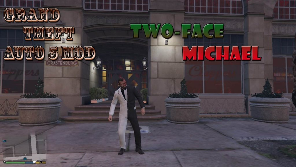 Two-face Michael Mod For GTA5